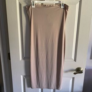 Nude long dress
